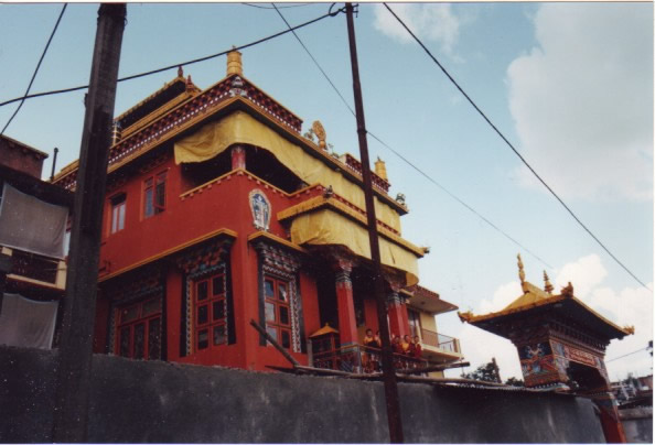 Photo of completed Lekshey Ling Monastery